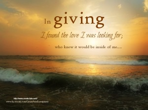 In giving you find what you seek...