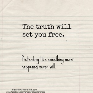 the truth will set you free white lined paper