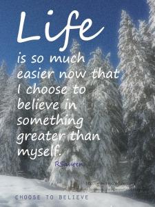 Belief in something Greater