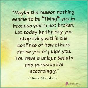 Steve Maraboli 777 Nothing is broken March 9 2015